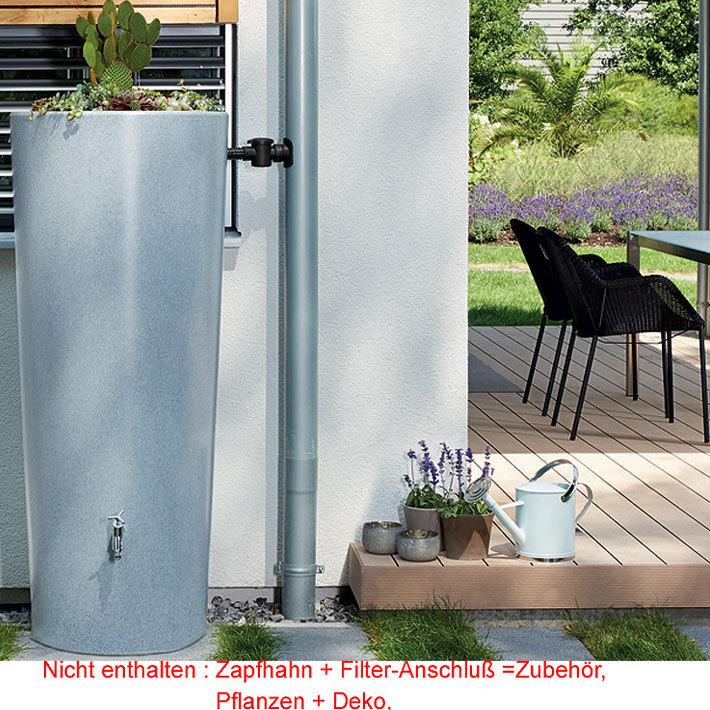 graf regenspeicher stone 2in1 pflanzschale 350l 2farb art jardin. Black Bedroom Furniture Sets. Home Design Ideas