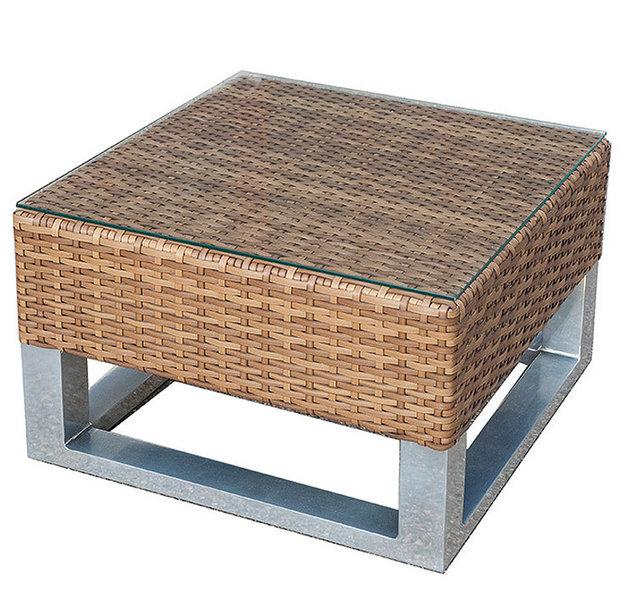 mbm couchtisch piccolino 50x50 polyrattan art jardin. Black Bedroom Furniture Sets. Home Design Ideas