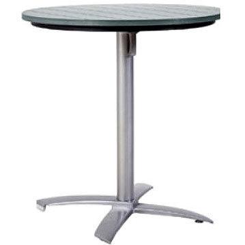 Tischgestell Für Runde Tischplatte.Mbm Tischgestell Bistro 76 00 0025 Alu Silber Tischfuß Abklappbar F Runde Tischplatten Ohne Platte