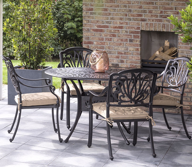 hartman gartenm bel set 9 teilig amalfi bronze alugu art. Black Bedroom Furniture Sets. Home Design Ideas