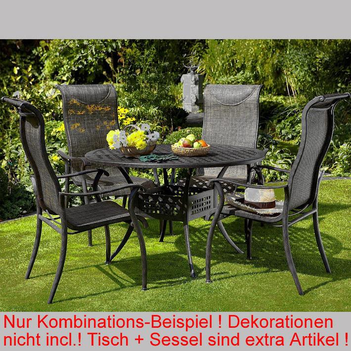 Hartman Gartenmöbel Set 6-tlg. Palermo bronze Aluguß - Art Jardin