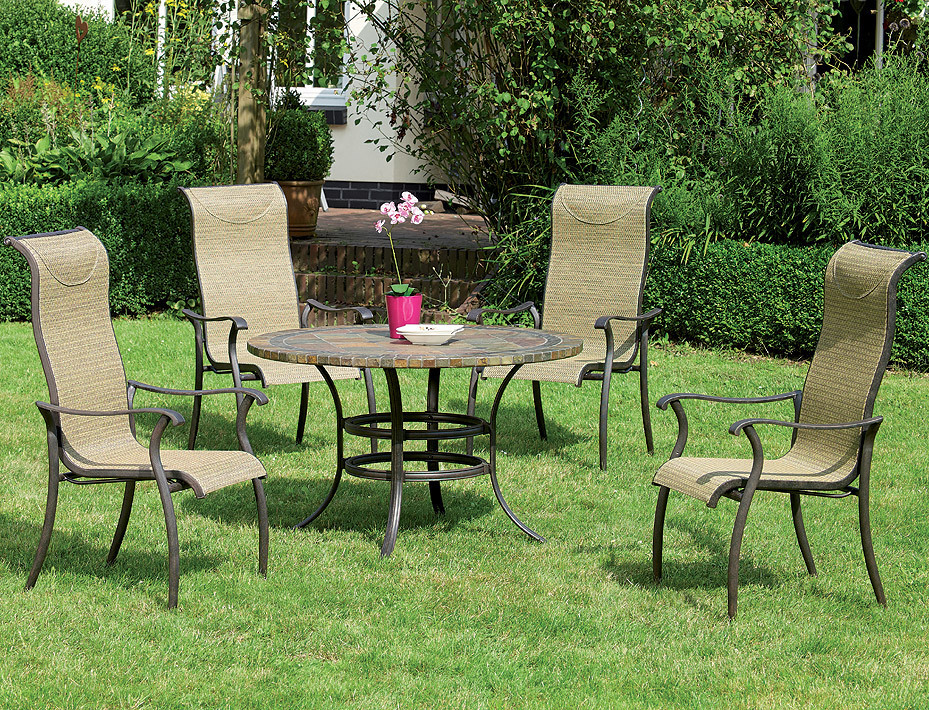 hartman gartenm bel set 6 tlg palermo bronze alugu art jardin. Black Bedroom Furniture Sets. Home Design Ideas