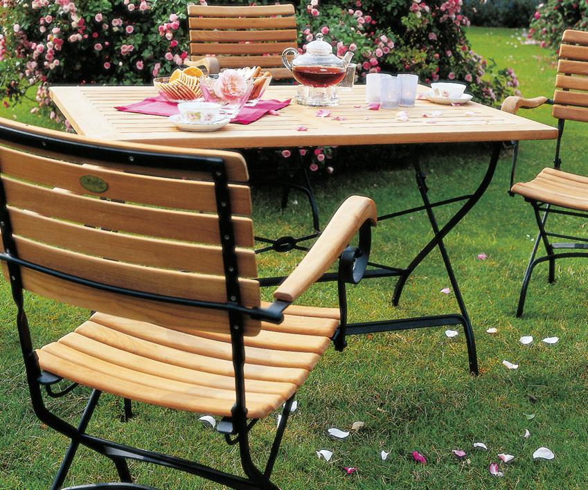 zebra tisch 80x80 florence 2619 s teak eisen klappbar artjardin. Black Bedroom Furniture Sets. Home Design Ideas