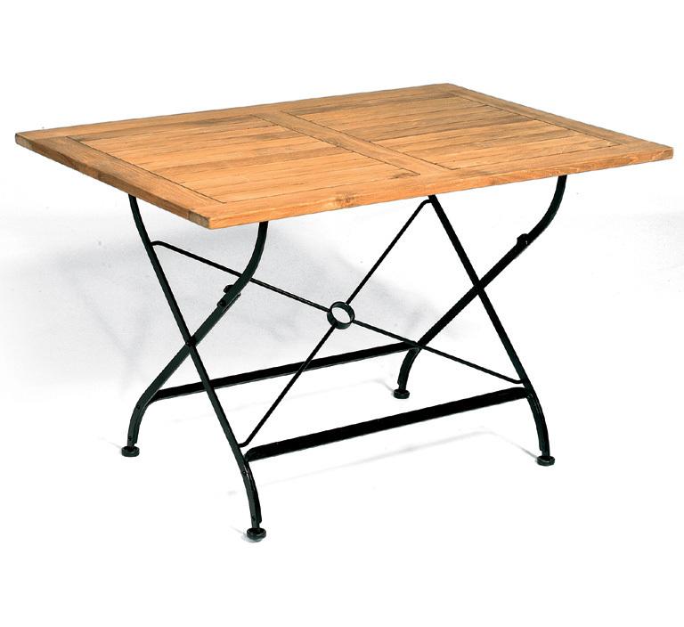 Sonnenpartner Tisch 120x80 Oxford Teak 80060242 Eisen verzinkt klappbar