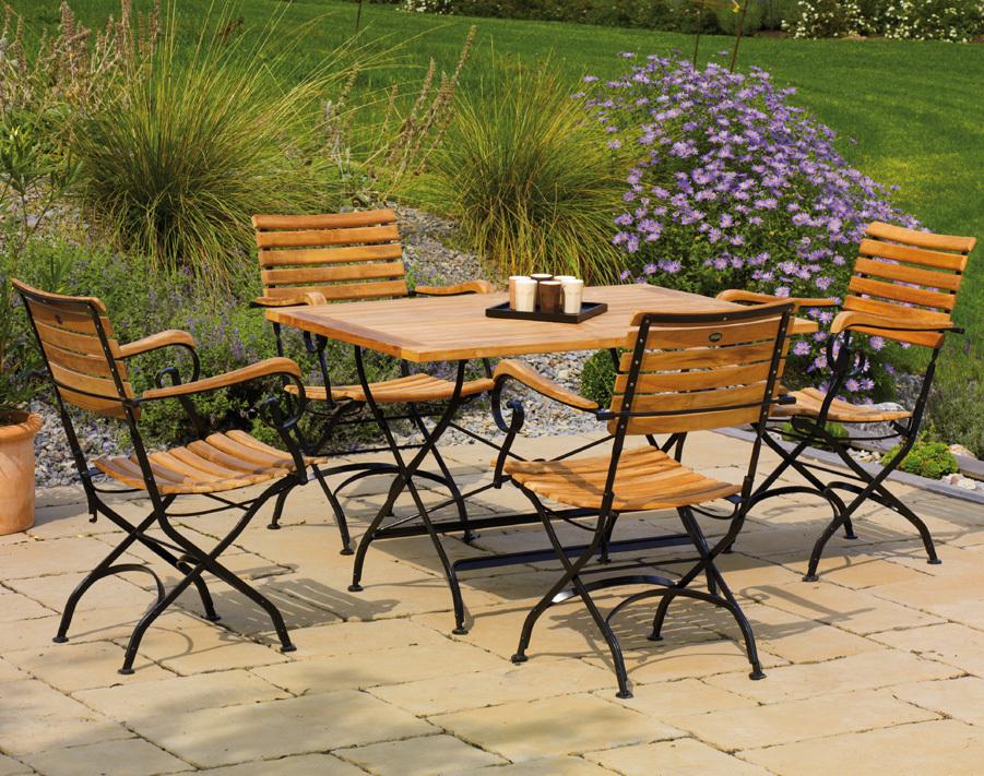 Sonnenpartner Tisch 120x80 Oxford Teak 80060242 Eisen Art Jardin
