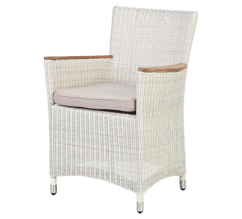 zebra sessel loomus alu polyrattan silkwhite coffee art. Black Bedroom Furniture Sets. Home Design Ideas