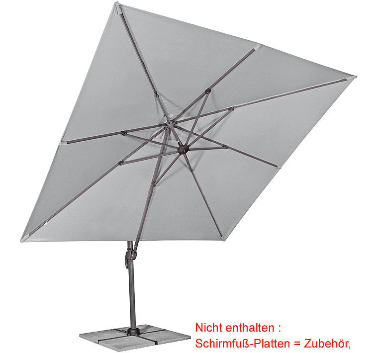 Favorit Doppler Ampelschirm Ravenna 3x3m Sonnenschirm + Hülle- Art Jardin BU68
