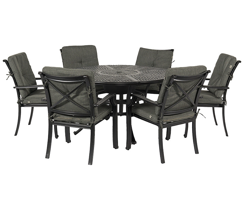 hartman 7tlgset jamie oliver 6 sessel tisch 130 alu art jardin. Black Bedroom Furniture Sets. Home Design Ideas