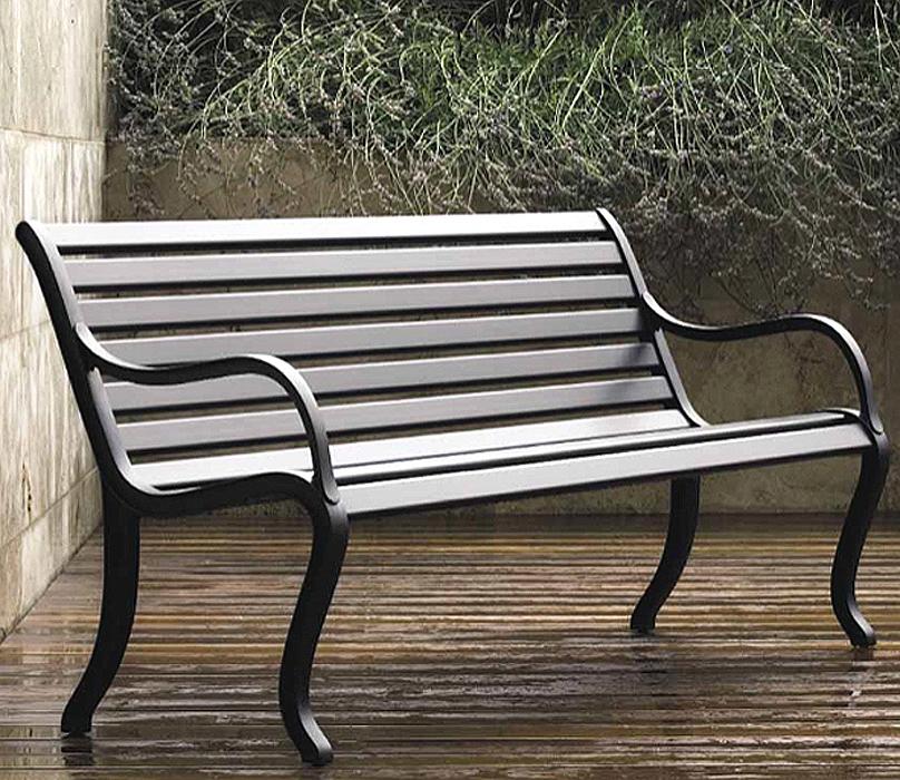 Fast Design 2-Sitze Bank Oasi Gartenbank Alu grau-met- Art Jardin