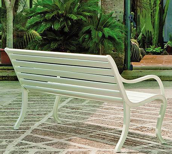 Gartenbank modern weiss  Fast Design 3-Sitze Bank Oasi Gartenbank Alu grau-met- Art Jardin