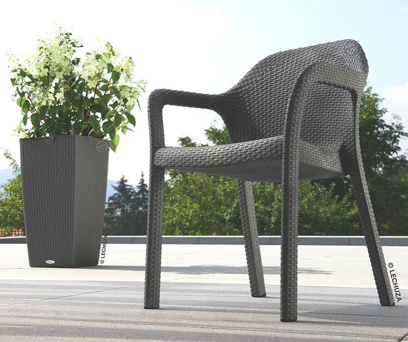 Lechuza Design Stuhl Cottage granit weiß Stapelsessel  Art Jardin