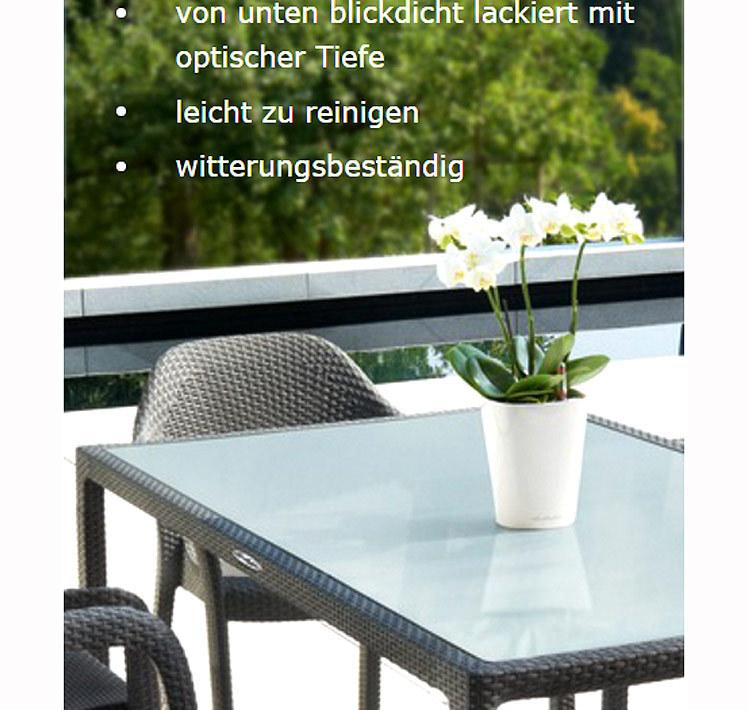 Lechuza Tisch 90x90cm Cottage Esstisch + Glasplatte- Art Jardin