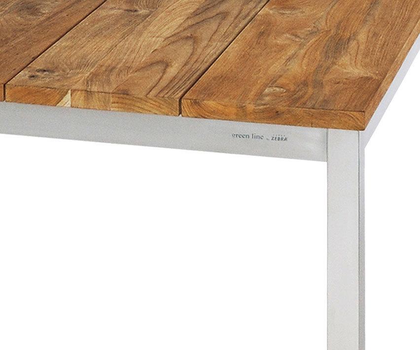 ... Zebra 2 Sitzer Bank Naxos 85cm 7224 Edelstahl + Recyceltes Teak Holz  Design Sitzbank Oh ...