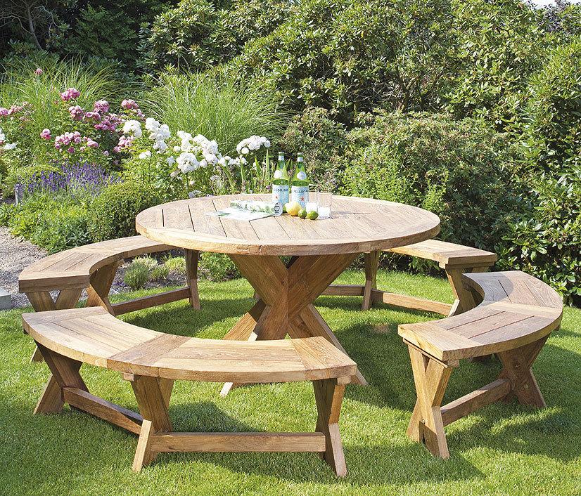 Sonnenpartner Teak Tisch Rund 150cm Quantum 80050750 Art Jardin