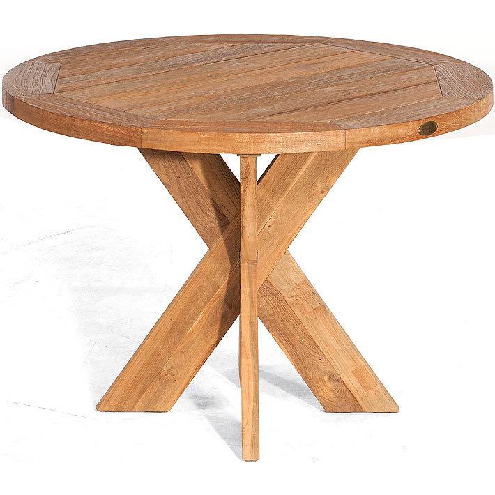 Affordable Old Teak Holz Tisch Rund Cm Quantum Esstisch Massivholz  Gartentisch With Esstisch Rund Massivholz