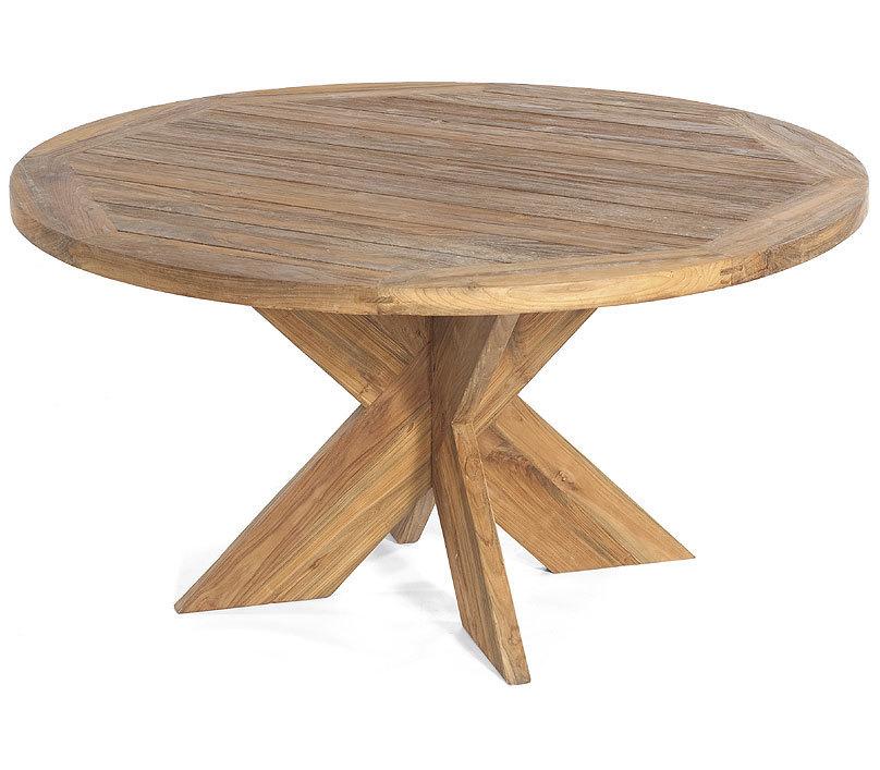 Sonnenpartner Teak Tisch Rund 150cm Quantum 80050750 Esstisch Massivholz