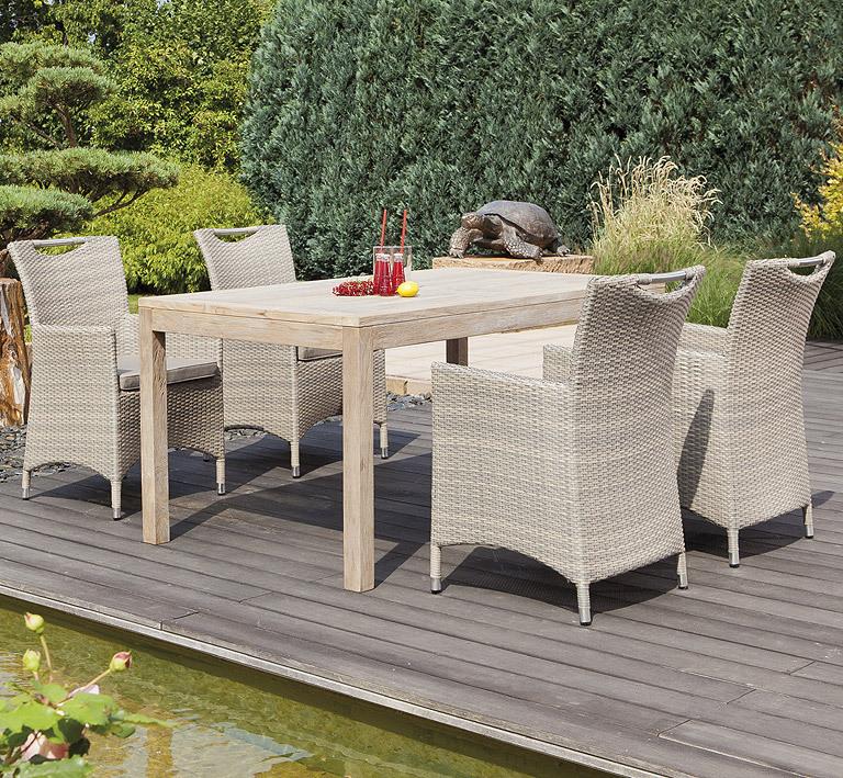 ... Sunny Smart Sessel + Sitz Kissen Cardinal 80050323 Alu + Polyrattan  Antik Grau Design Gartenmöbel ...