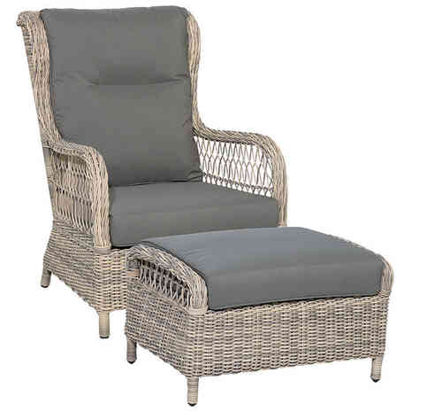 Queen´s Garden Loungesessel Allegro XXL + Hocker XXL