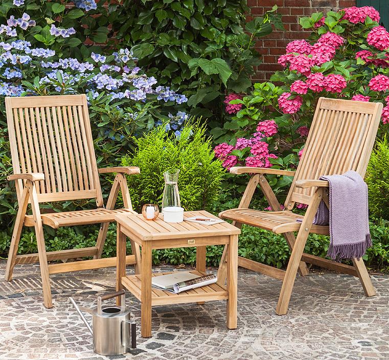 queen s garden beistelltisch teak gartenm bel art jardin. Black Bedroom Furniture Sets. Home Design Ideas