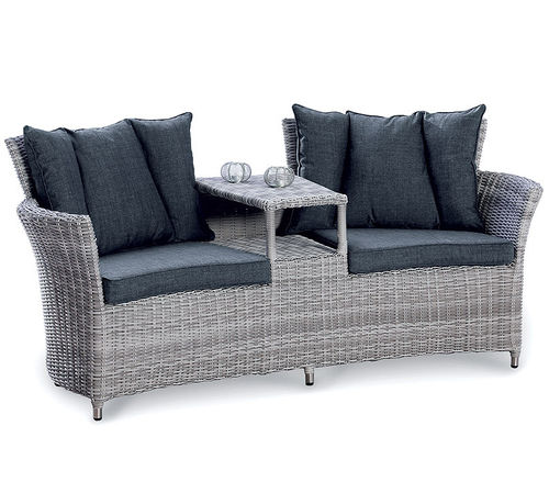 BEST Duo Lounge Sessel Barcelona Alu Polyrattan Sofa