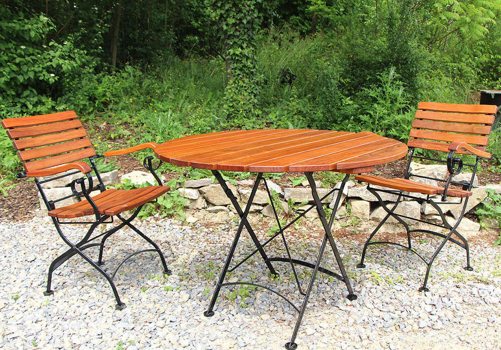 Awo Gartenmobel Set Lord 3tlg 2 Sessel Tisch 90 Rund Artjardin