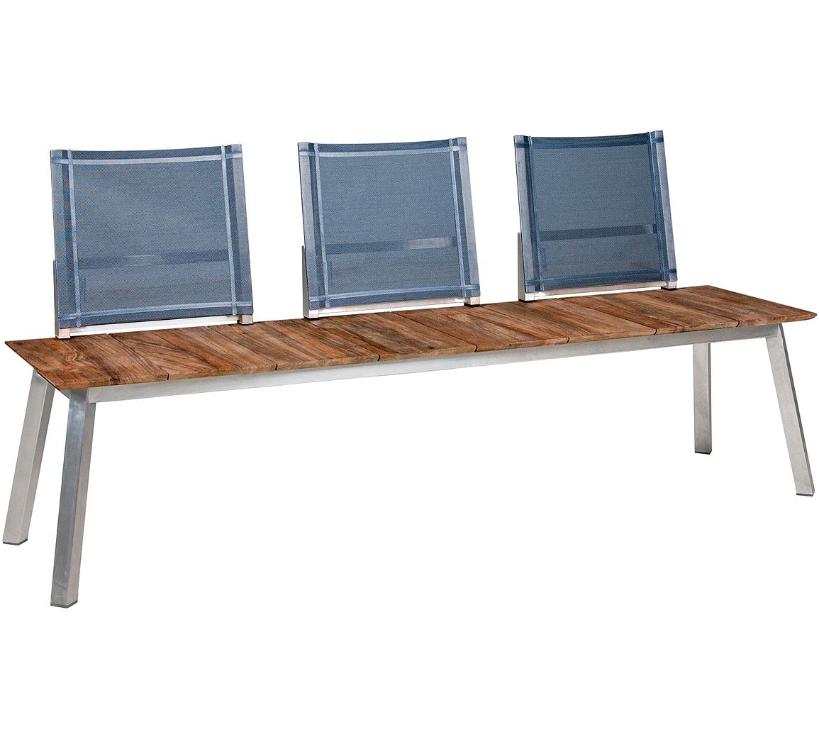 zebra sport bank 185cm linax 7281 edelstahl old teak artjardin. Black Bedroom Furniture Sets. Home Design Ideas