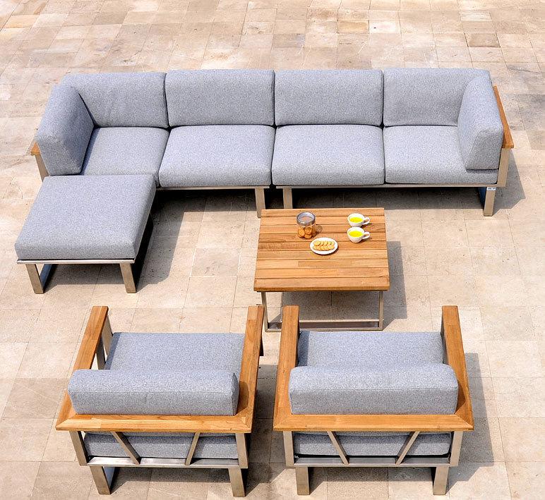 zebra edelstahl lounge sessel belvedere 3650 kissen art jardin. Black Bedroom Furniture Sets. Home Design Ideas