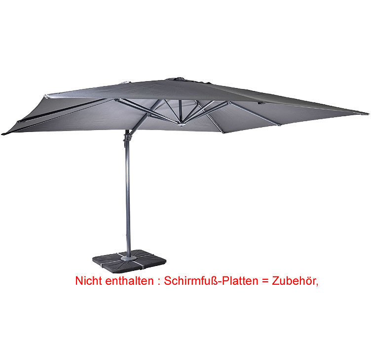 parasole ampelschirm scorpio 300x400 sonnenschirm grau artjardin. Black Bedroom Furniture Sets. Home Design Ideas