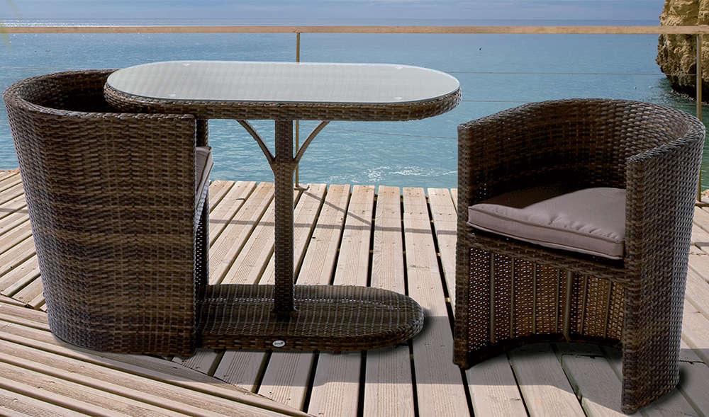 Polyrattan balkonset stunning obi outdoor living balkonset colville tlg with polyrattan - Obi balkonmobel ...