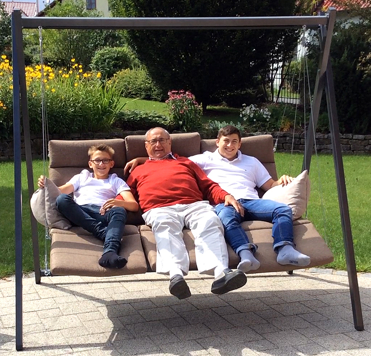 Sungörl Triple Relax Liege Schaukel Swing 7000 olive - Art Jardin