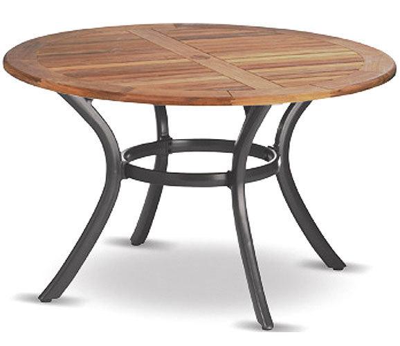 Gartentisch rund  Hartman Tisch rund 120cm South Wales Alu FSC Teakholz- Art Jardin