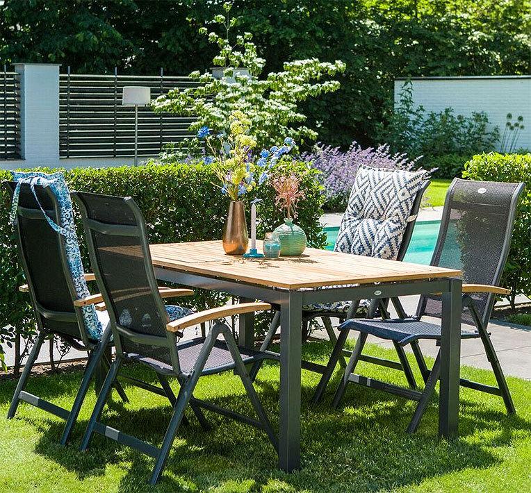 hartman auszugtisch 150 210x90 south wales alu fscteak artjardin. Black Bedroom Furniture Sets. Home Design Ideas
