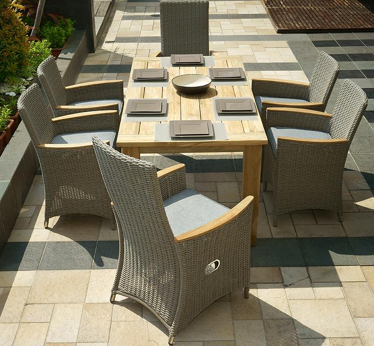 Zebra Old Teak Holz Tisch 160x90cm Oskar 5305 Esstisch Artjardin