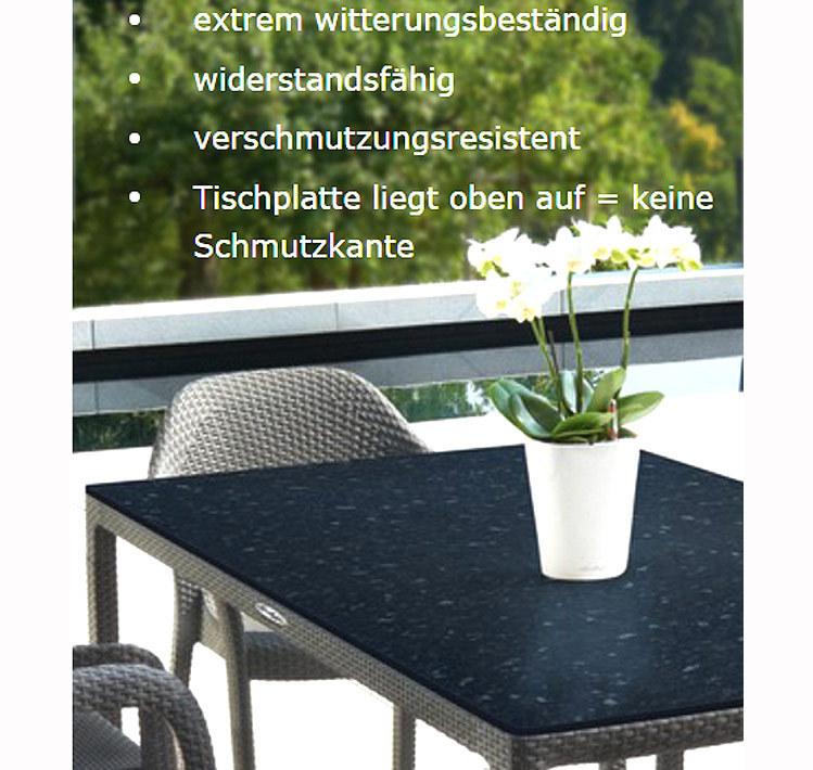 Lechuza Design Tisch 160x90 Esstisch + HPL Tischplatte- ArtJardin