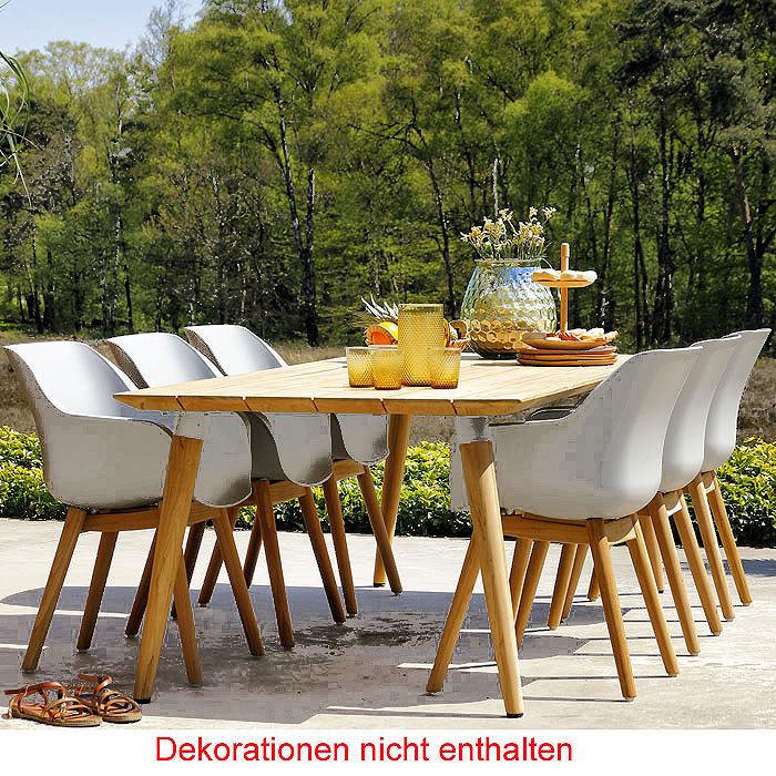 Hartman Design 7 Tlg. Set Sophie Studio Teak U003d 6 Sessel + Polypropylen  Schale ...