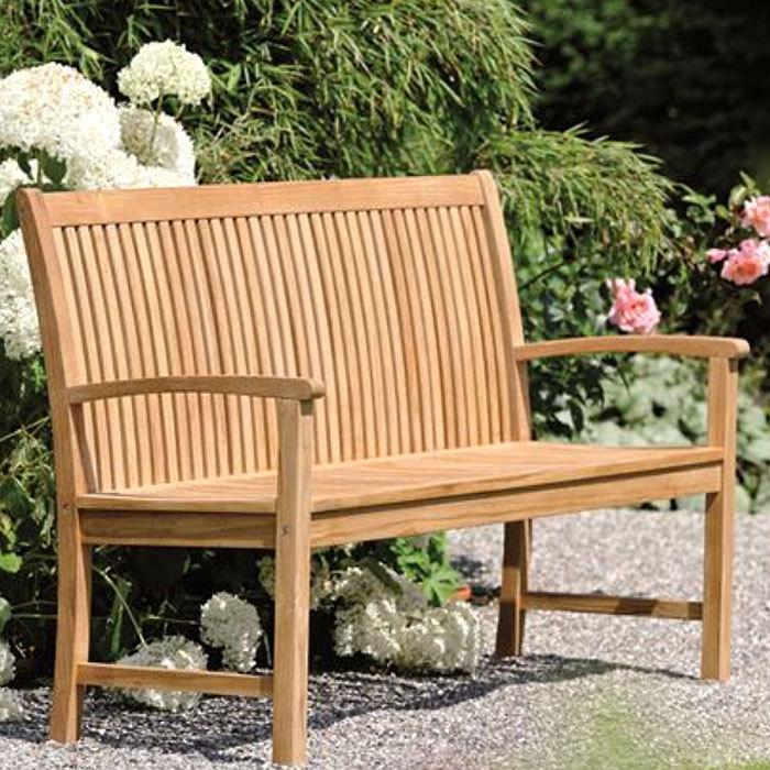 Stern Fsc Teak Holz 2 Sitzer Bank 129cm Malaga 420601 Art Jardin