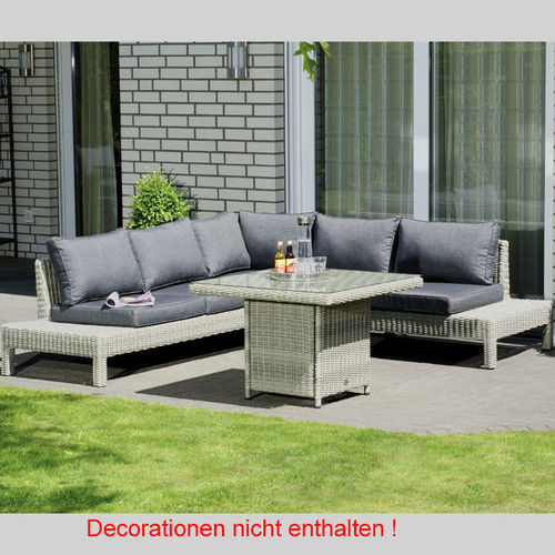 Sunny Smart 3-tlg Dining Lounge Continental Polyrattan 80061165